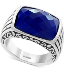 effy men's lapis lazuli ring in sterling silver