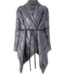 uma   raquel davidowicz jaqueta dumbo matelassê oversized - cinza