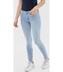 calã§a jeans gap jegging skimmer azul - azul - feminino - algodã£o - dafiti