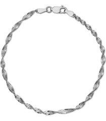 giani bernini butterfly link chain bracelet in sterling silver, created for macy's