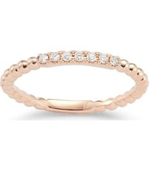 dana rebecca designs 18kt rose gold and diamond poppy rae ring - pink