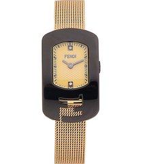 stainless steel & diamond bracelet watch