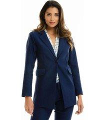 chaqueta para mujer en poliester azul azul talla xs