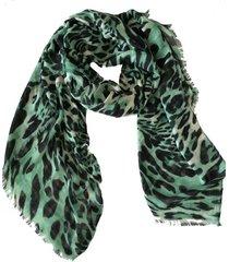 pañuelo green animal print zagora