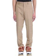 lanvin pants in beige linen