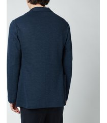 canali men's slim fit jersey cardigan blazer - dark blue - it 54/xxl