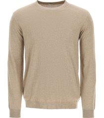caruso cotton and silk sweater