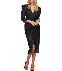 women's astr the label toulouse beaded ruched midi dress