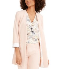 calvin klein long collarless blazer