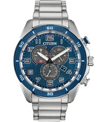 citizen drive from citizen eco-drive men's chronograph ltr stainless steel bracelet watch 45mm