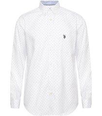 camisa us polo assn blanco - calce regular