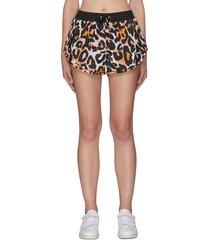 'set shot' leopard print shorts