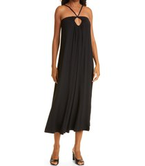 rebecca taylor open back maxi dress, size x-small in black at nordstrom