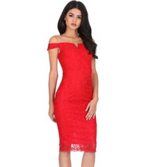 ax paris lace bardot midi dress