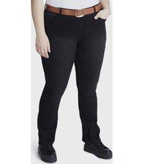 jeans recto negro curvi