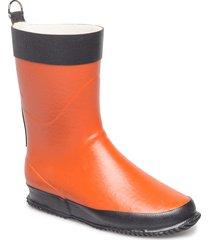 short rubber boot regnstövlar skor orange ilse jacobsen