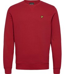 crew neck sweatshirt sweat-shirt trui rood lyle & scott