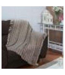 manta para sofá villebon - 150 x 200 cm tabaco