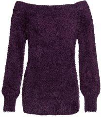 maglione in filato soffice con spalle scoperte (viola) - bodyflirt
