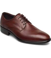 citytray shoes business laced shoes brun ecco
