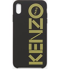 kenzo men's logo iphone x max case - black/yellow