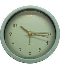 relógio mesa pu gold dial verde e dourado