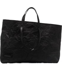 jw anderson crinkle-effect tote bag - black