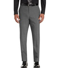 awearness kenneth cole awear-tech gray check slim fit dress pants