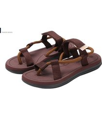 verano nuevo estilo sandalias masculinas-marrón
