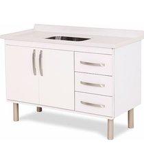 gabinete para cozinha 120cm mdp 12mm munique branco 116,2x60x49,5cm - rorato - rorato