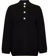 cashmere knit stickad tröja svart ganni