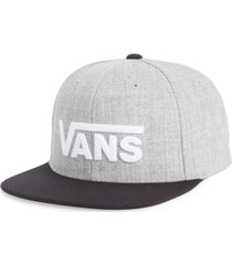 men's vans drop v ii snapback cap - grey