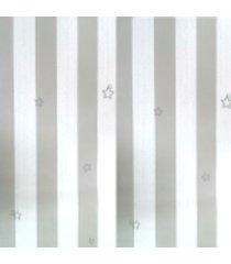 kit 3 rolos de papel de parede fwb lavã¡vel listrado cinza e branco - branco/cinza - dafiti
