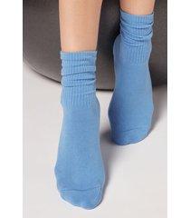 calzedonia sport socks woman blue size m/l