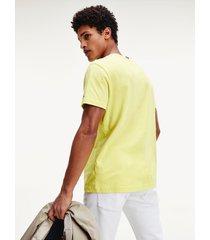 camiseta amarillo tommy hilfiger