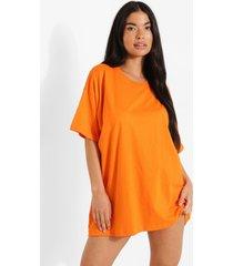 petite oversized t-shirtjurk, apricot