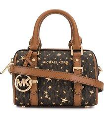 michael michael kors bedford travel crossbody bag - 790 brown/gold
