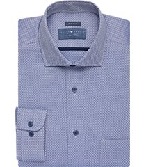 joseph abboud indigo blue dress shirt blue jacquard