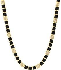 freida rothman harmony enamel collar necklace in gold/black at nordstrom