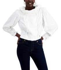 inc funnel-collar cropped jacket, created for macy's