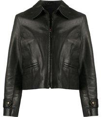 a.n.g.e.l.o. vintage cult 1990s cutaway collar jacket - black