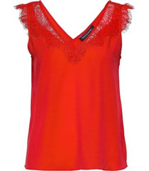 chioma light lace top t-shirts & tops sleeveless rood french connection