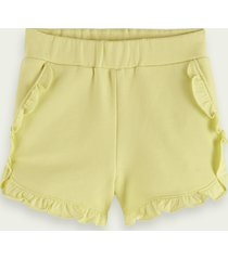 scotch & soda ruffled organic cotton shorts