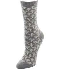 natori fretwork socks, women's, brown natori