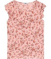 blusa mujer flores m/c arandela color rosado, talla l