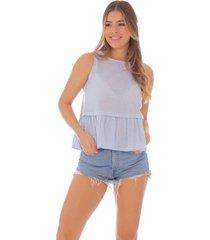 blusa de rayas con boleros - mujer