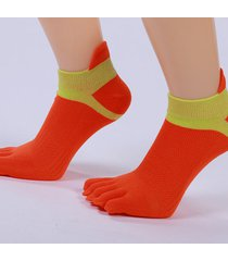 women cotton calze exercise sports yoga calzino antiscivolo five fingers calze