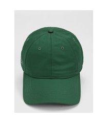 boné lacoste logo verde