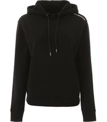 paco rabanne hoodie with logo on one shoulder