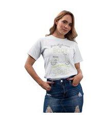 camiseta feminina mirat body soul branco